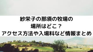 紗栄子の那須の牧場の場所はどこ?アクセス方法や入場料など情報まとめ