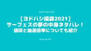 [ヨドバシ福袋2021]サーフェスの夢の中身ネタバレ!抽選倍率についても