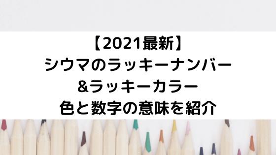 シウマのラッキーナンバーとカラー【2021最新】色と数字の意味を紹介