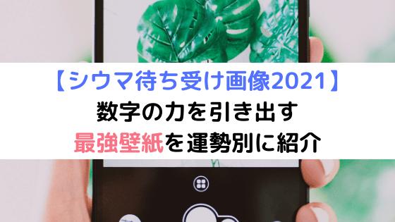【シウマ待ち受け画像2021】数字の力を引き出す最強壁紙を運勢別に紹介